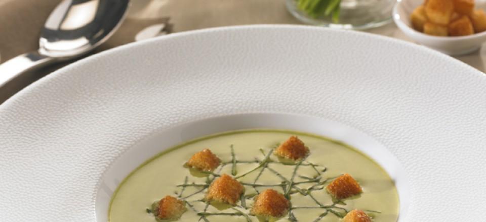 Potage d'Aster à la crème / restaurant l'Armen.
